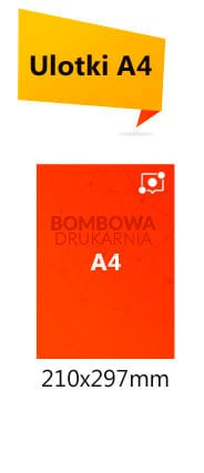 Cennik ulotek format A4 na papierze kreda 130g