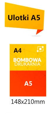 Cennik ulotek format A5 na papierze kreda 130g